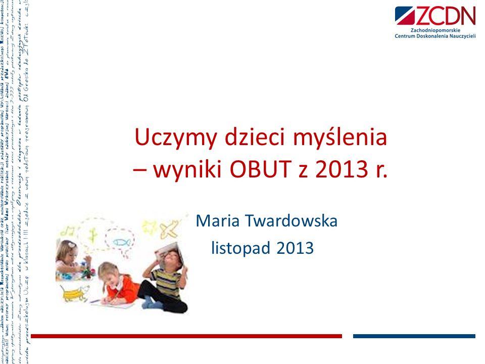 Uczymy dzieci myślenia – wyniki OBUT z 2013 r.