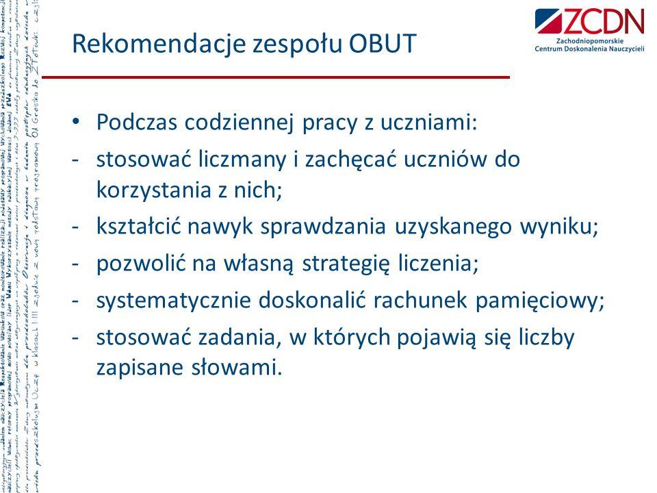 Rekomendacje zespołu OBUT