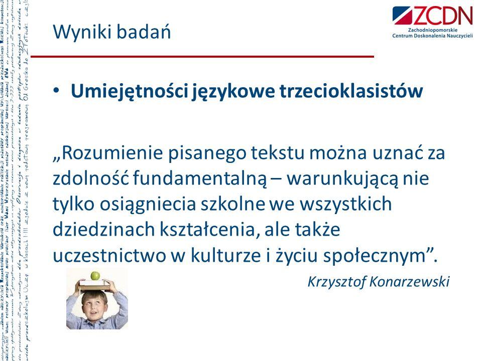 Umiejętności językowe trzecioklasistów