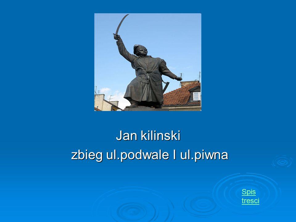 Jan kilinski zbieg ul.podwale I ul.piwna