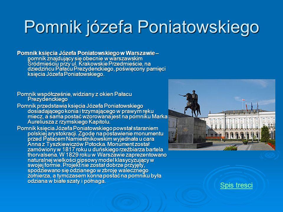 Pomnik józefa Poniatowskiego