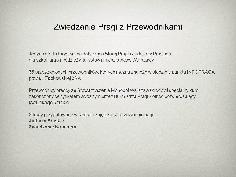 Zwiedzanie Pragi z Przewodnikami