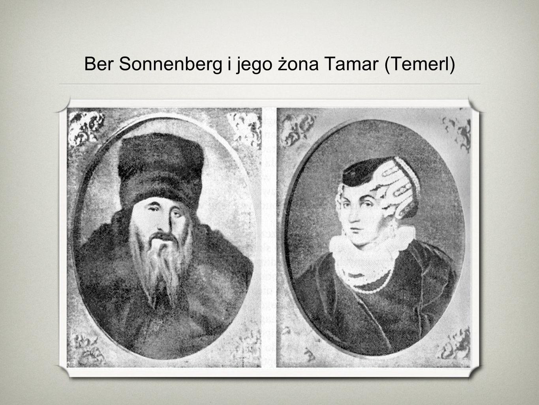Ber Sonnenberg i jego żona Tamar (Temerl)