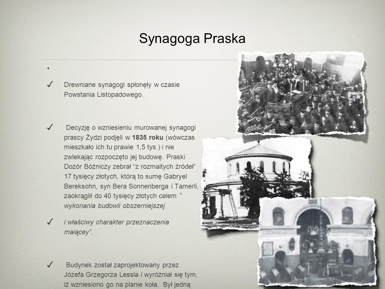Synagoga Praska Drewniane synagogi spłonęły w czasie Powstania Listopadowego.