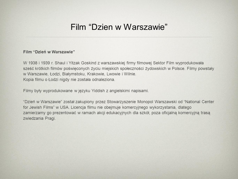 Film Dzien w Warszawie