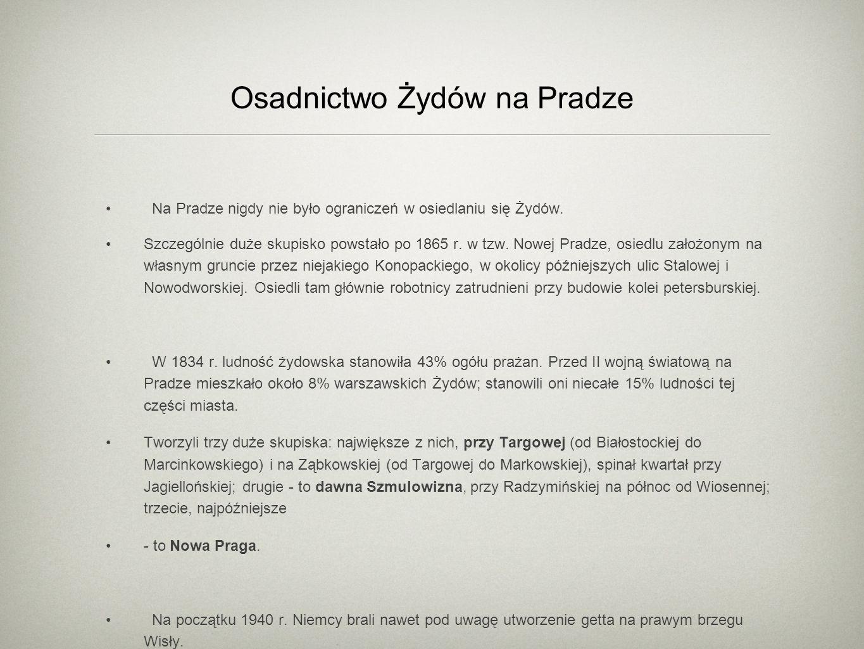 Osadnictwo Żydów na Pradze
