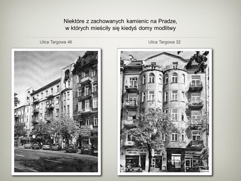 Niektóre z zachowanych kamienic na Pradze, w których mieściły się kiedyś domy modlitwy