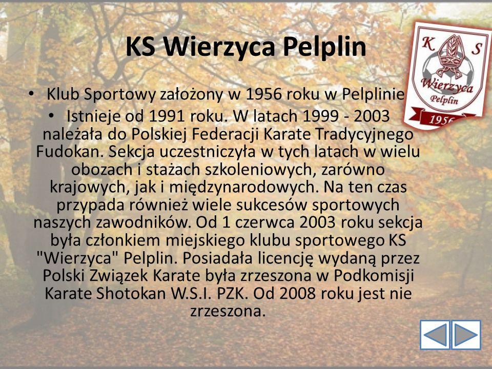 Klub Sportowy założony w 1956 roku w Pelplinie.
