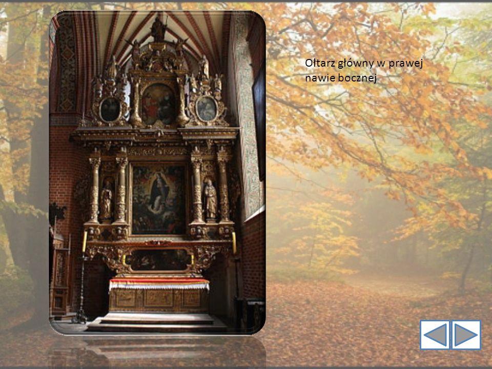 Ołtarz główny w prawej nawie bocznej