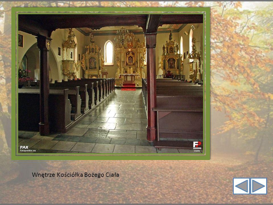 Wnętrze Kościółka Bożego Ciała