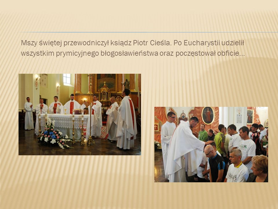 Mszy świętej przewodniczył ksiądz Piotr Cieśla