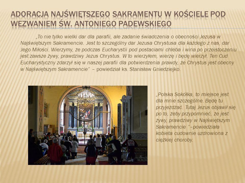 Adoracja najświętszego sakramentu w kościele pod wezwaniem św