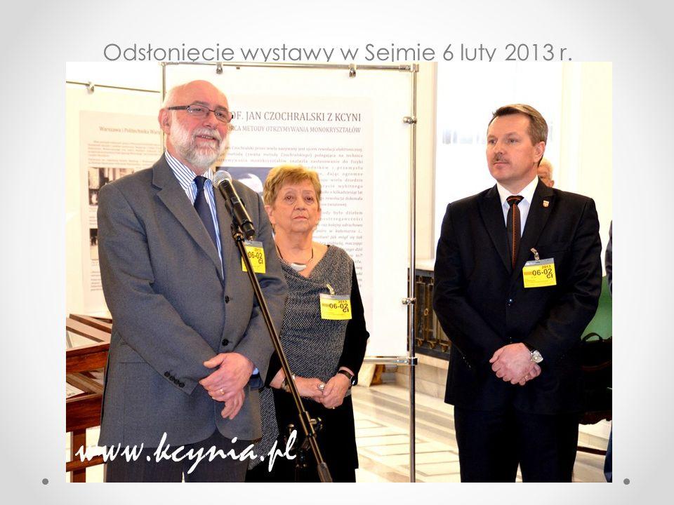 Odsłonięcie wystawy w Sejmie 6 luty 2013 r.