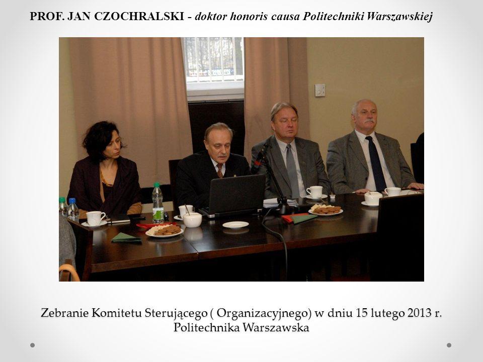 PROF. JAN CZOCHRALSKI - doktor honoris causa Politechniki Warszawskiej