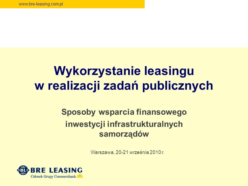 Wykorzystanie leasingu w realizacji zadań publicznych