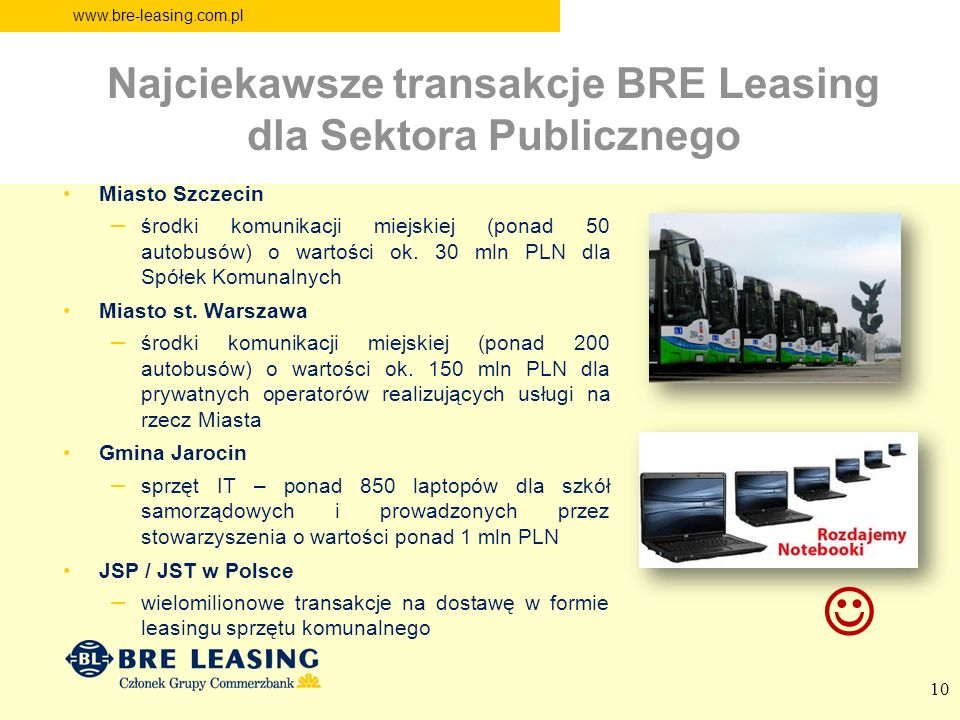 Najciekawsze transakcje BRE Leasing dla Sektora Publicznego
