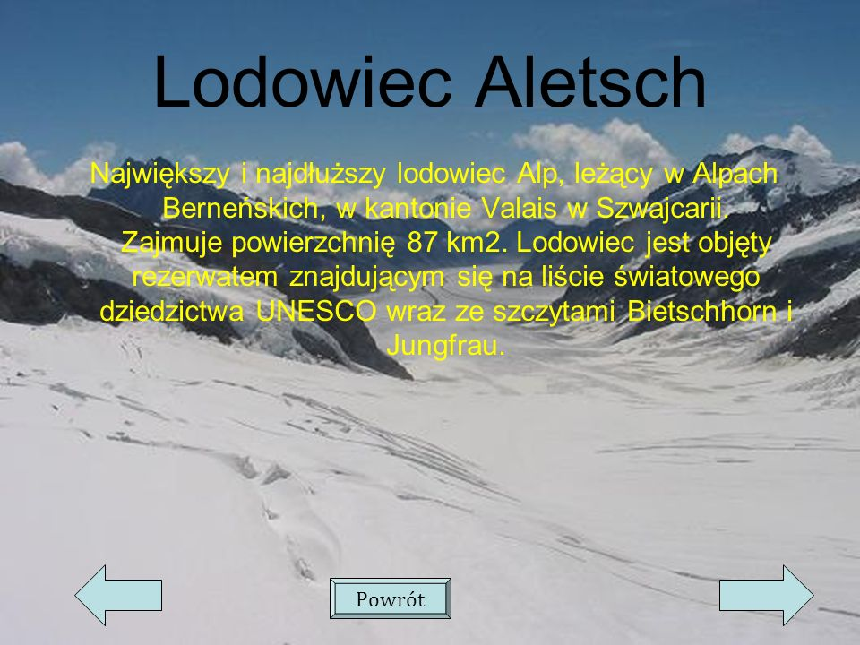 Lodowiec Aletsch