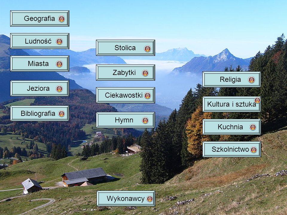 Geografia Ludność. Stolica. Miasta. Zabytki. Religia. Jeziora. Ciekawostki. Kultura i sztuka.