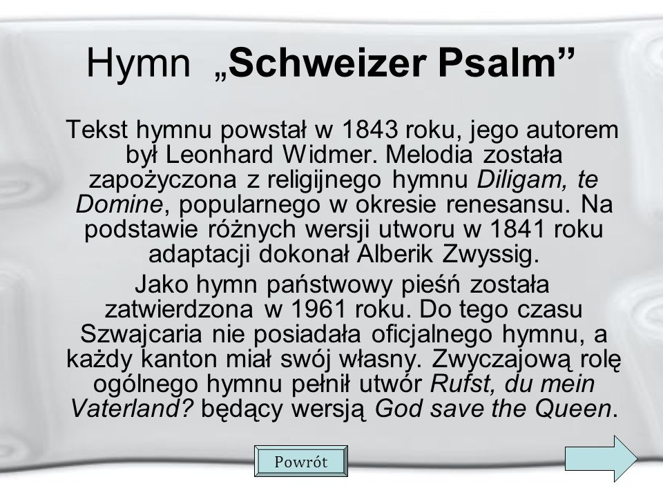 "Hymn ""Schweizer Psalm"