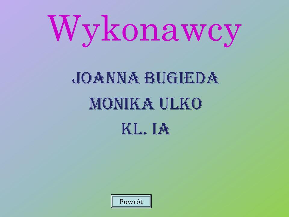 Wykonawcy Joanna Bugieda Monika Ulko Kl. Ia Powrót
