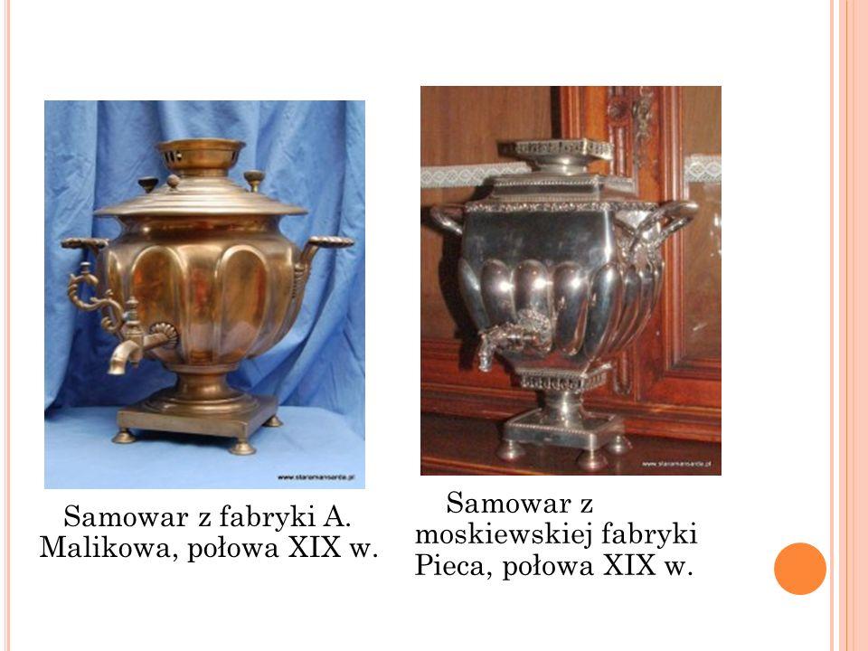 Samowar z moskiewskiej fabryki Pieca, połowa XIX w.