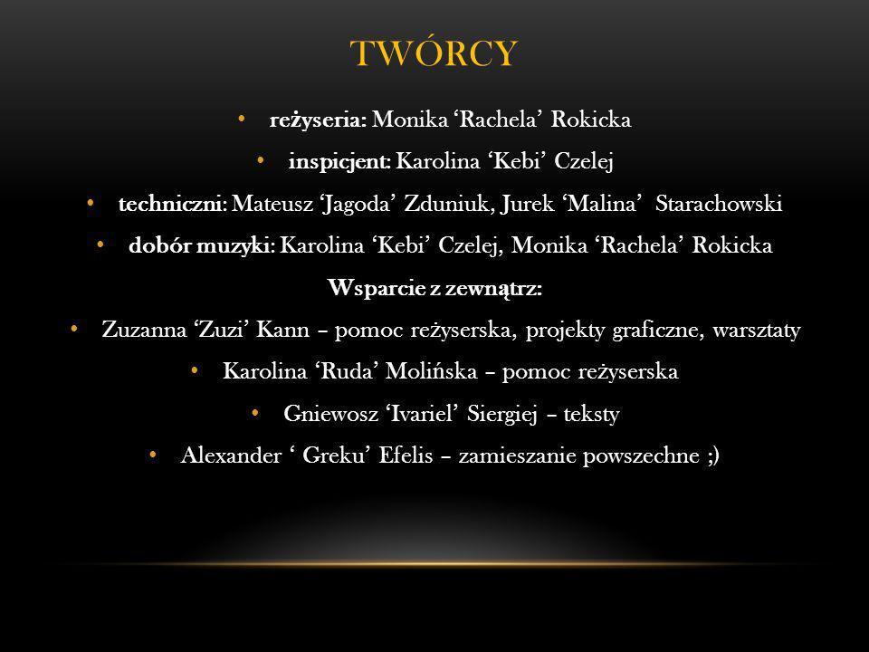 Twórcy reżyseria: Monika 'Rachela' Rokicka