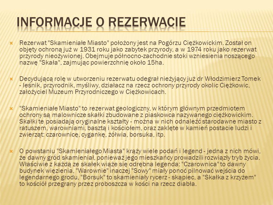 Informacje o rezerwacie