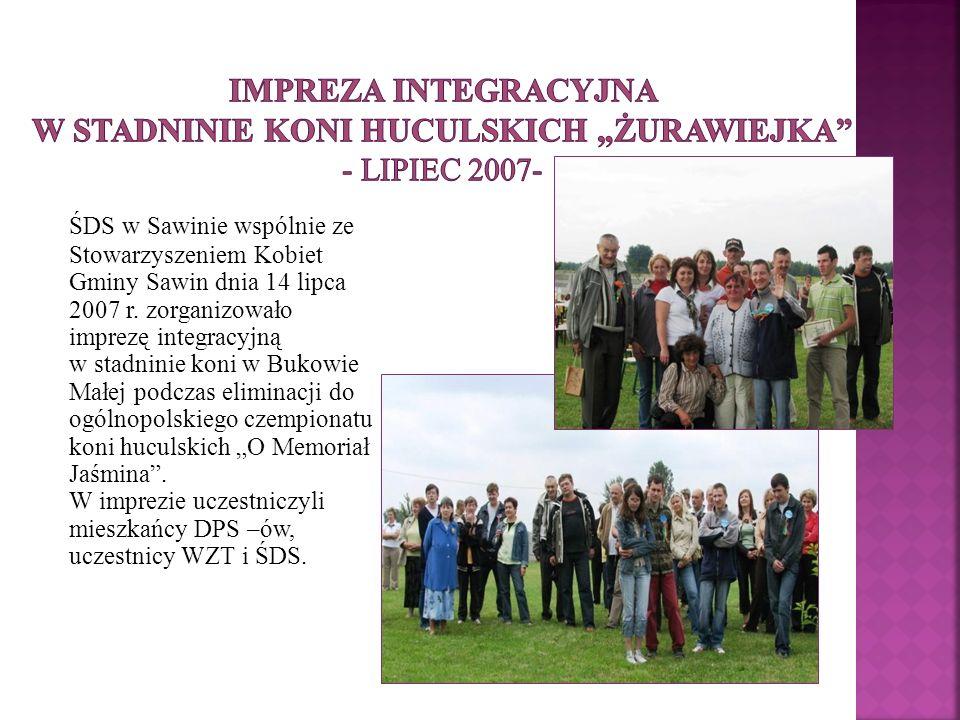 """Impreza integracyjna w Stadninie Koni Huculskich """"Żurawiejka - lipiec 2007-"""