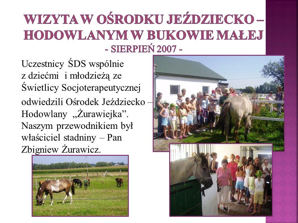 Wizyta w Ośrodku Jeździecko – Hodowlanym w Bukowie Małej - sierpień 2007 -