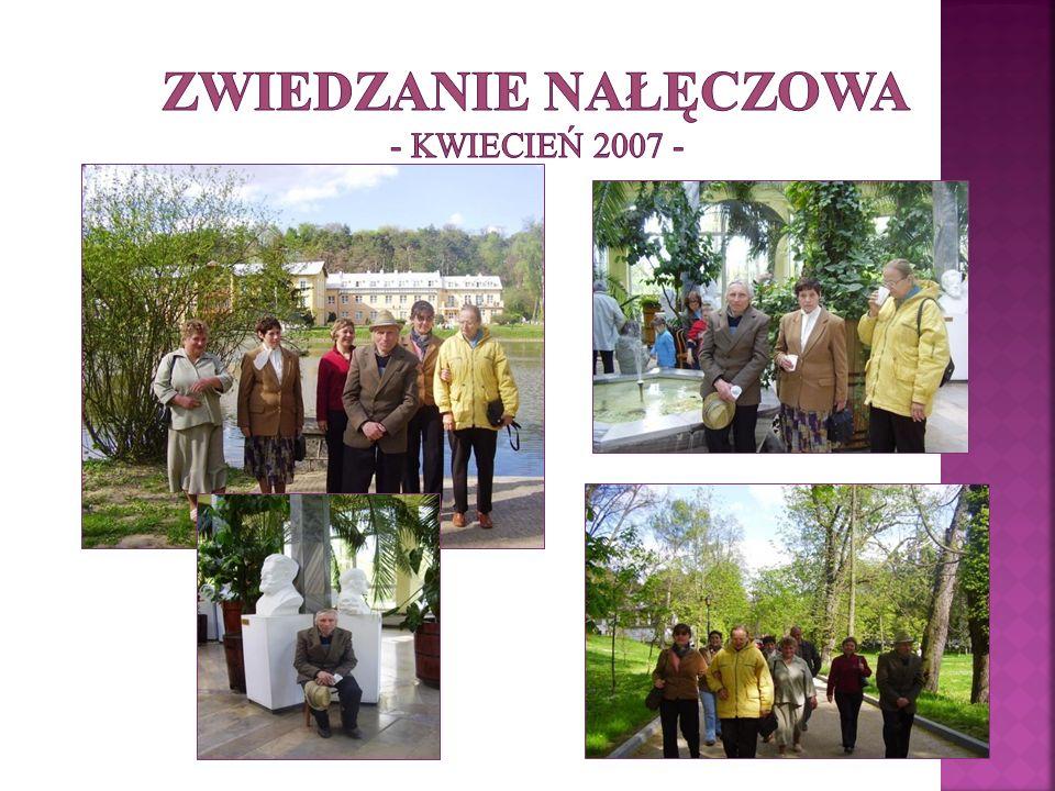Zwiedzanie Nałęczowa - kwiecień 2007 -