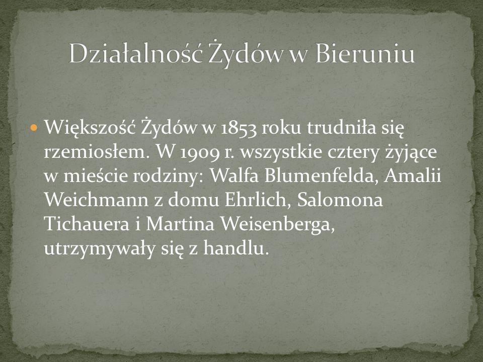 Działalność Żydów w Bieruniu