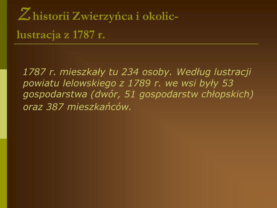 Z historii Zwierzyńca i okolic- lustracja z 1787 r.