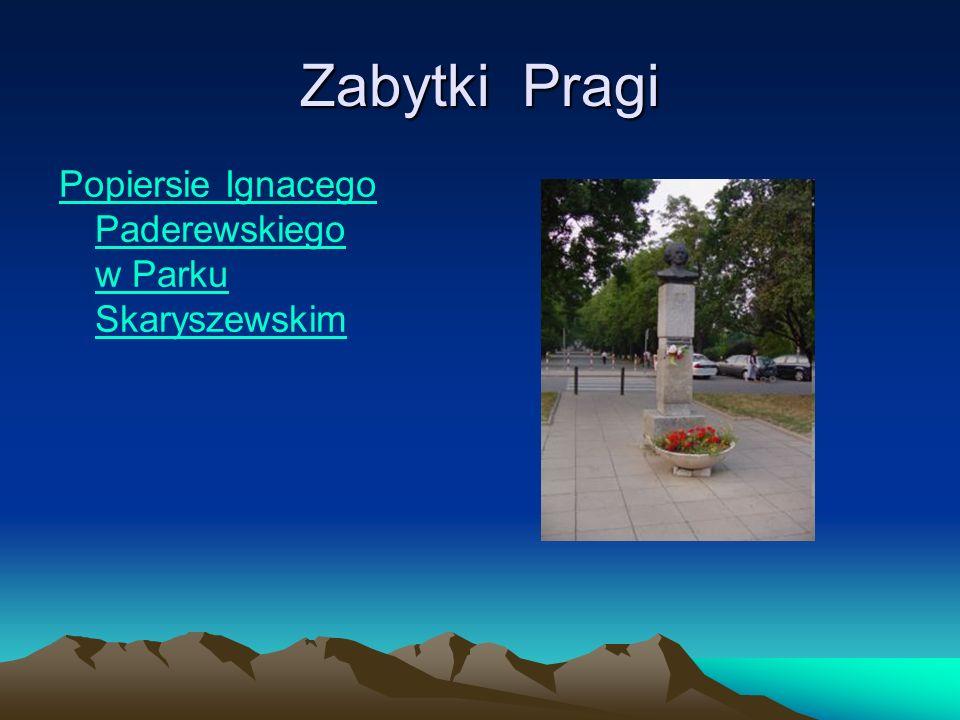 Zabytki Pragi Popiersie Ignacego Paderewskiego w Parku Skaryszewskim