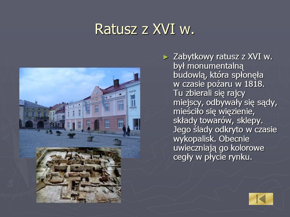 Ratusz z XVI w.