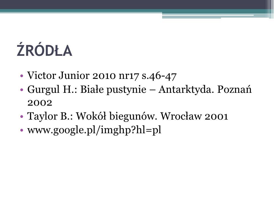 ŹRÓDŁA Victor Junior 2010 nr17 s.46-47