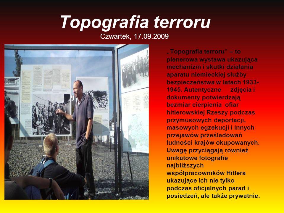 Topografia terroru Czwartek, 17.09.2009