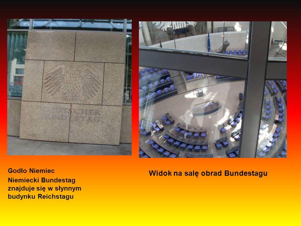Widok na salę obrad Bundestagu