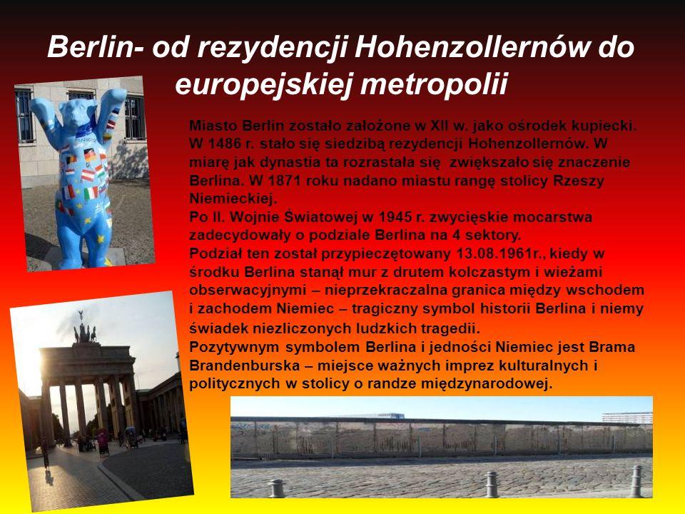 Berlin- od rezydencji Hohenzollernów do europejskiej metropolii