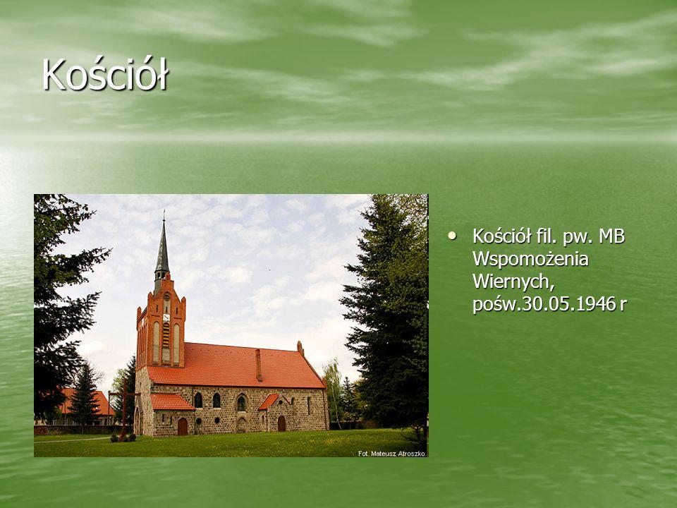 Kościół Kościół fil. pw. MB Wspomożenia Wiernych, pośw.30.05.1946 r