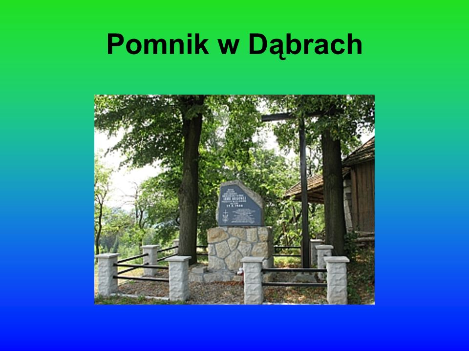 Pomnik w Dąbrach