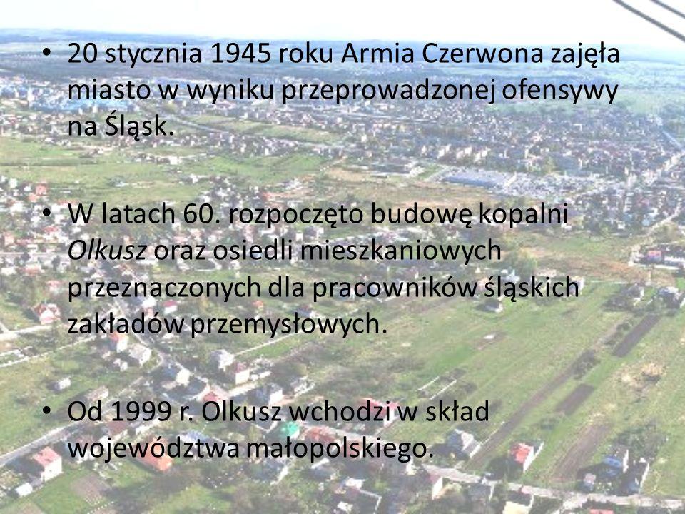 20 stycznia 1945 roku Armia Czerwona zajęła miasto w wyniku przeprowadzonej ofensywy na Śląsk.