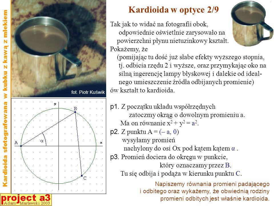 Kardioida w optyce 2/9 Tak jak to widać na fotografii obok,