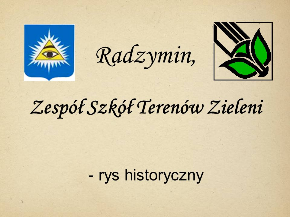 Radzymin, Zespół Szkół Terenów Zieleni