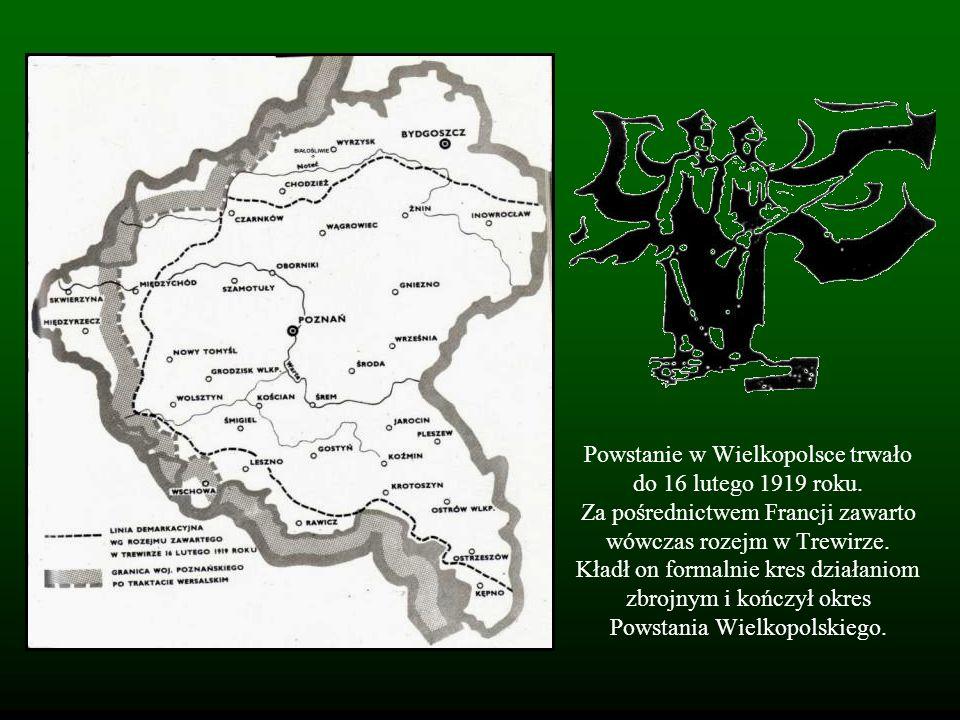 Powstanie w Wielkopolsce trwało do 16 lutego 1919 roku