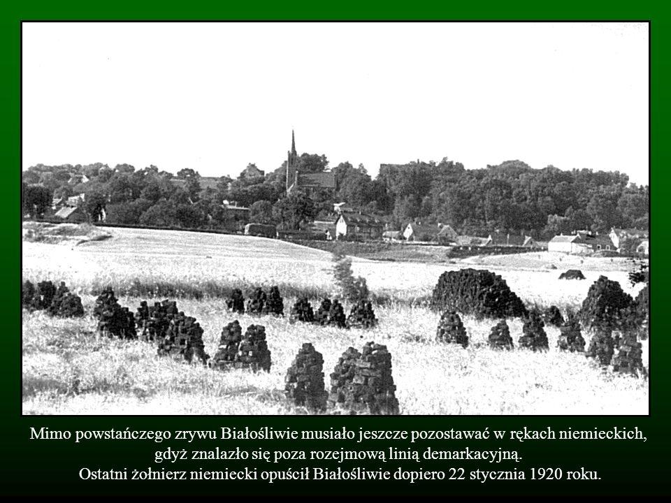 Mimo powstańczego zrywu Białośliwie musiało jeszcze pozostawać w rękach niemieckich, gdyż znalazło się poza rozejmową linią demarkacyjną.