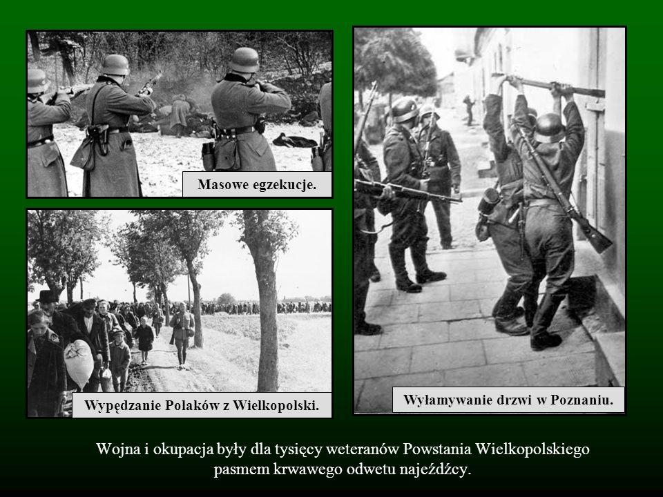 Wyłamywanie drzwi w Poznaniu. Wypędzanie Polaków z Wielkopolski.