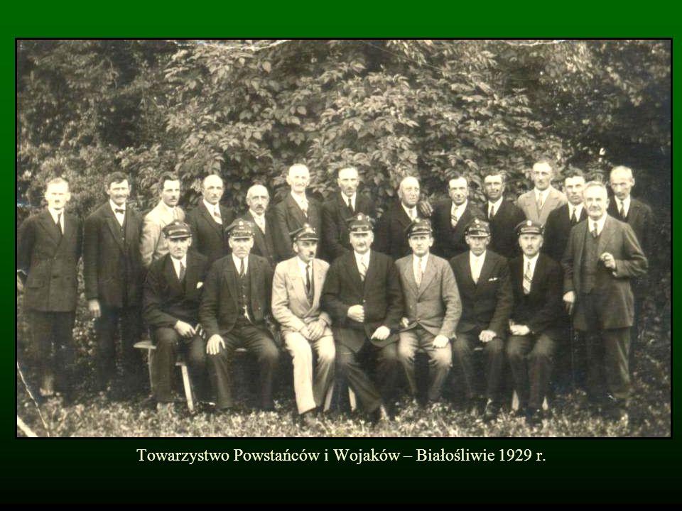 Towarzystwo Powstańców i Wojaków – Białośliwie 1929 r.