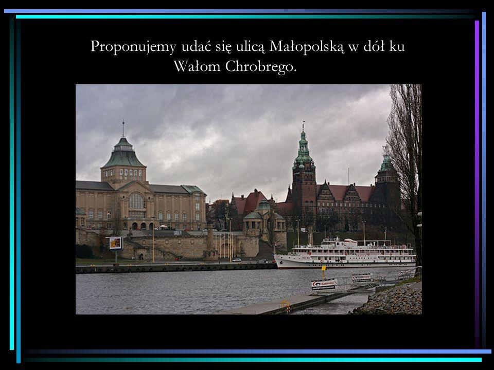 Proponujemy udać się ulicą Małopolską w dół ku Wałom Chrobrego.