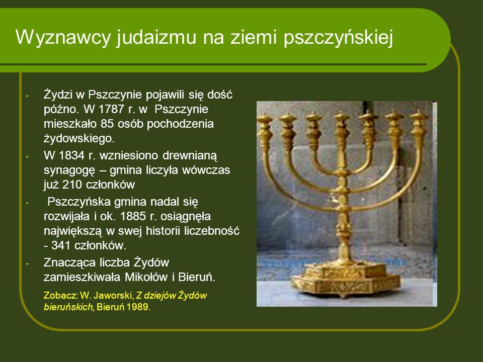 Wyznawcy judaizmu na ziemi pszczyńskiej