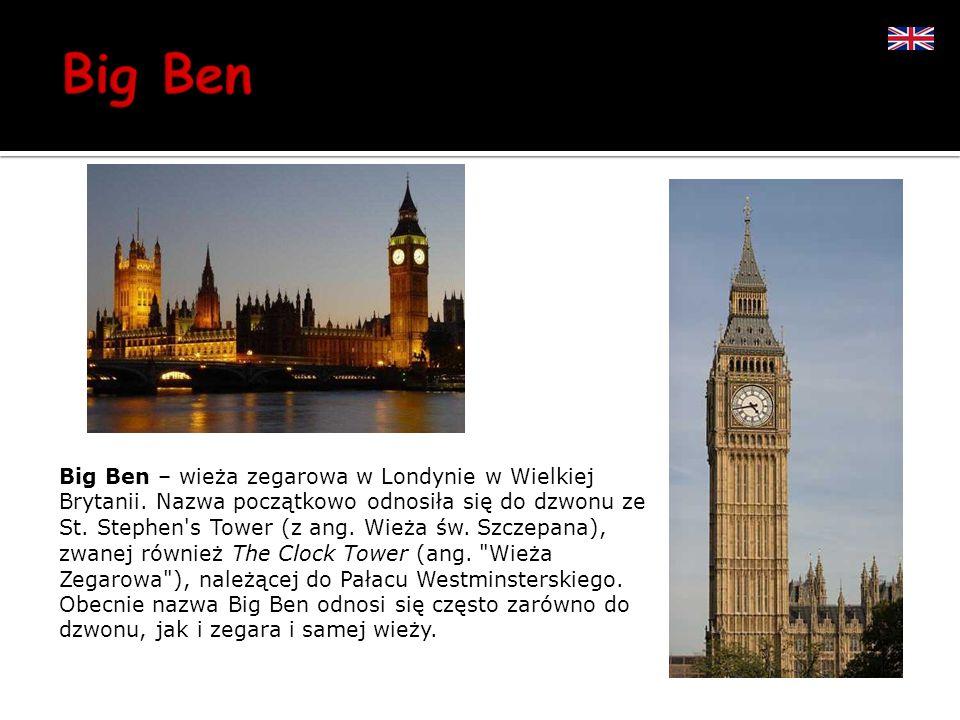 Big Ben – wieża zegarowa w Londynie w Wielkiej Brytanii